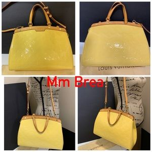 Brea Mm Yellow Venis with strap included & Duster